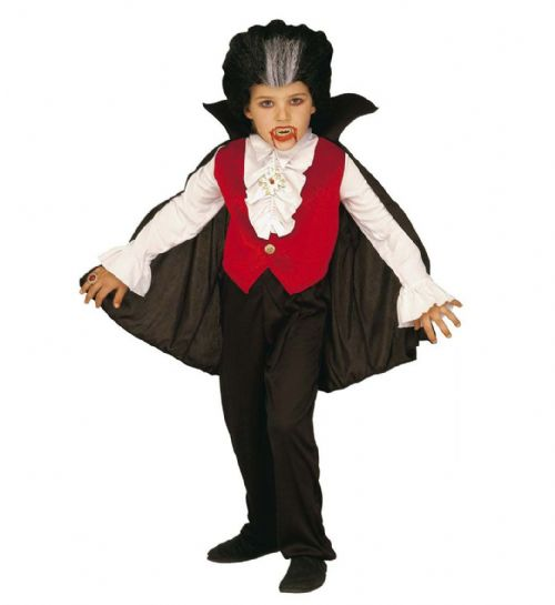 Boys Count Dracula Velvet Costume Halloween Fancy Dress